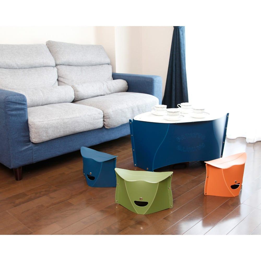 折りたためて持ち運べる椅子【パタット PATATTO 180】同色2個セット お客様が来た時など。来客用にもあると便利。
