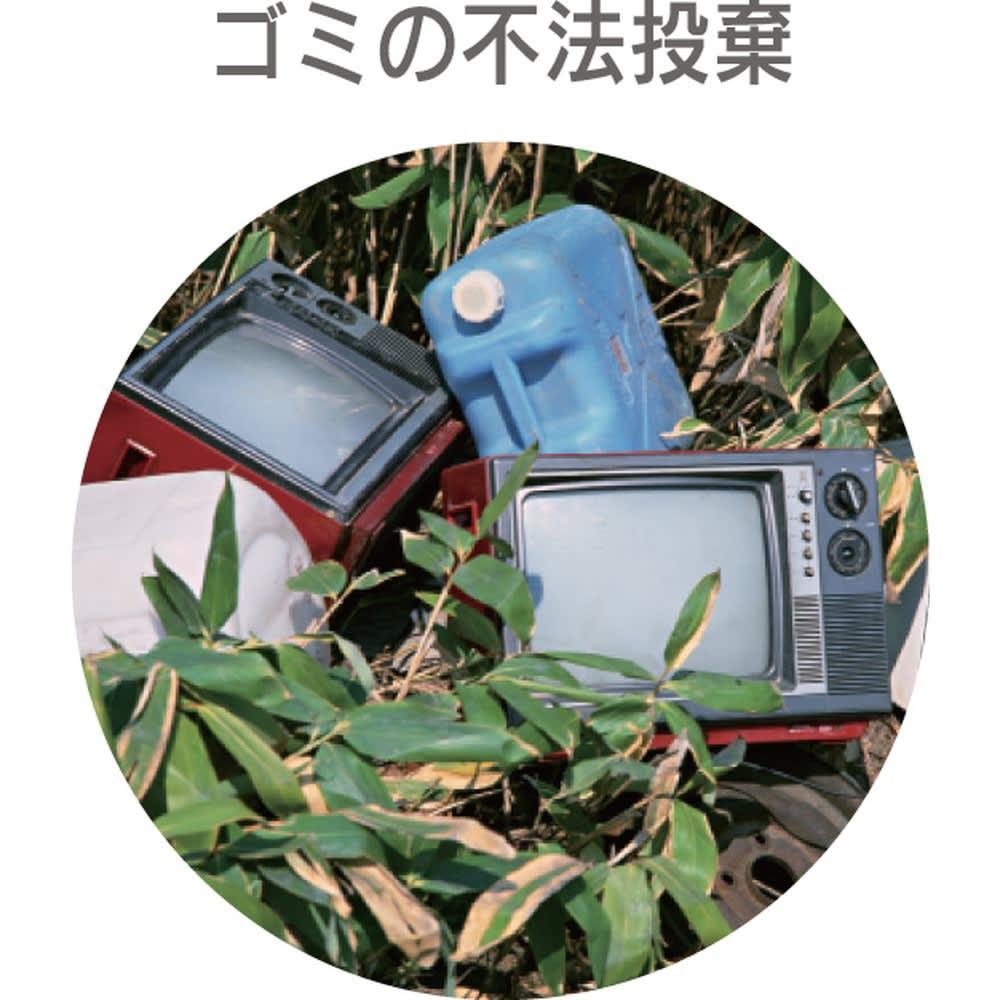 センサーライト一体型防犯カメラ【リーベックス 人感センサー式ライトカメラ microSDHC+電池セット】 ごみの不法投棄に
