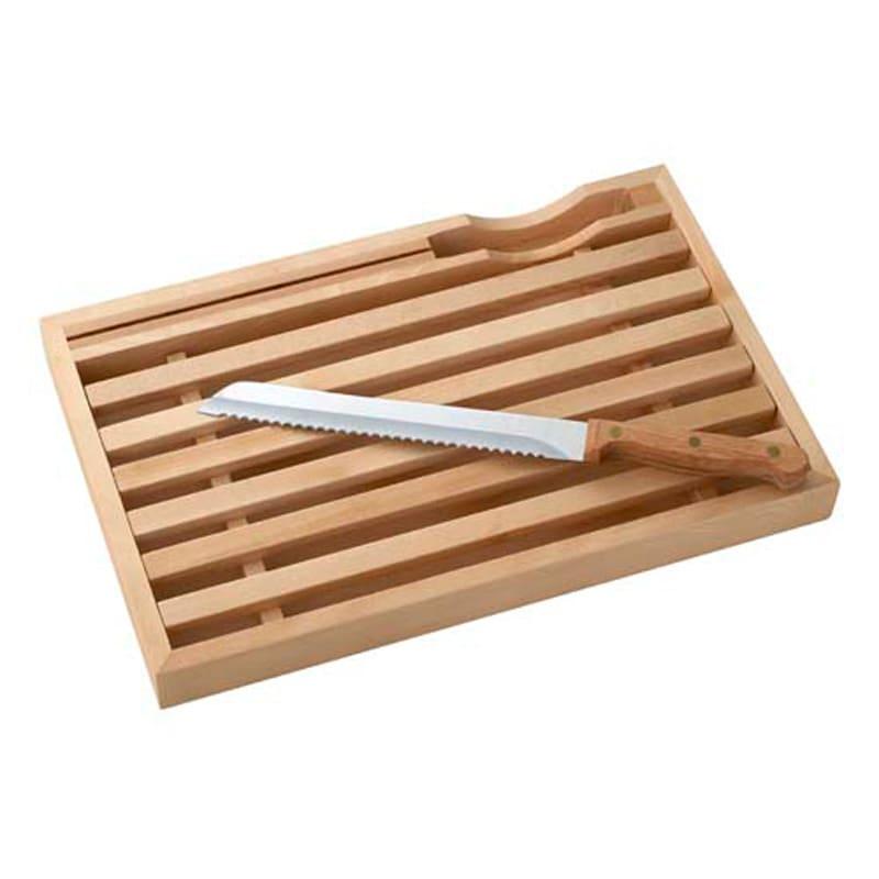 パンくずが散らからないまな板&ナイフのセット【ブレッドカッティングボード】 まな板と包丁のセット