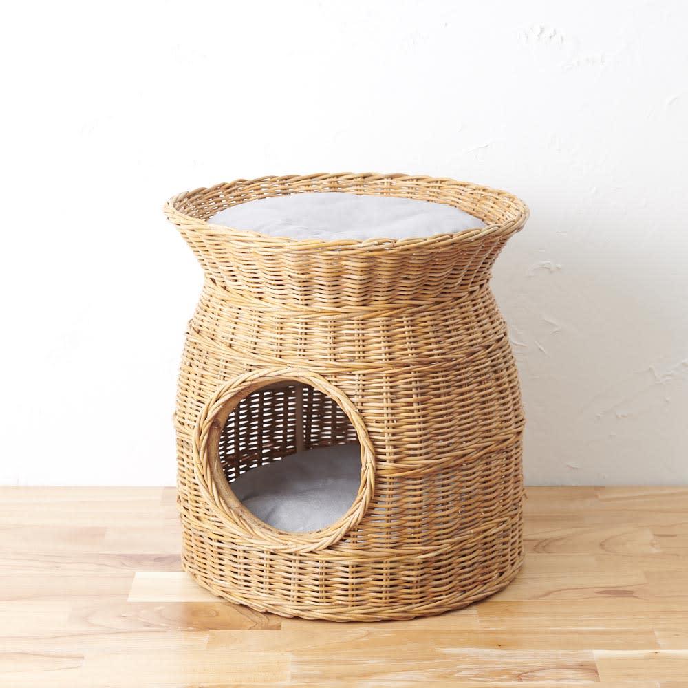 【WEB限定】ラタンのペットハウス ラタンの優しい風合いがお部屋に癒しの空間を。