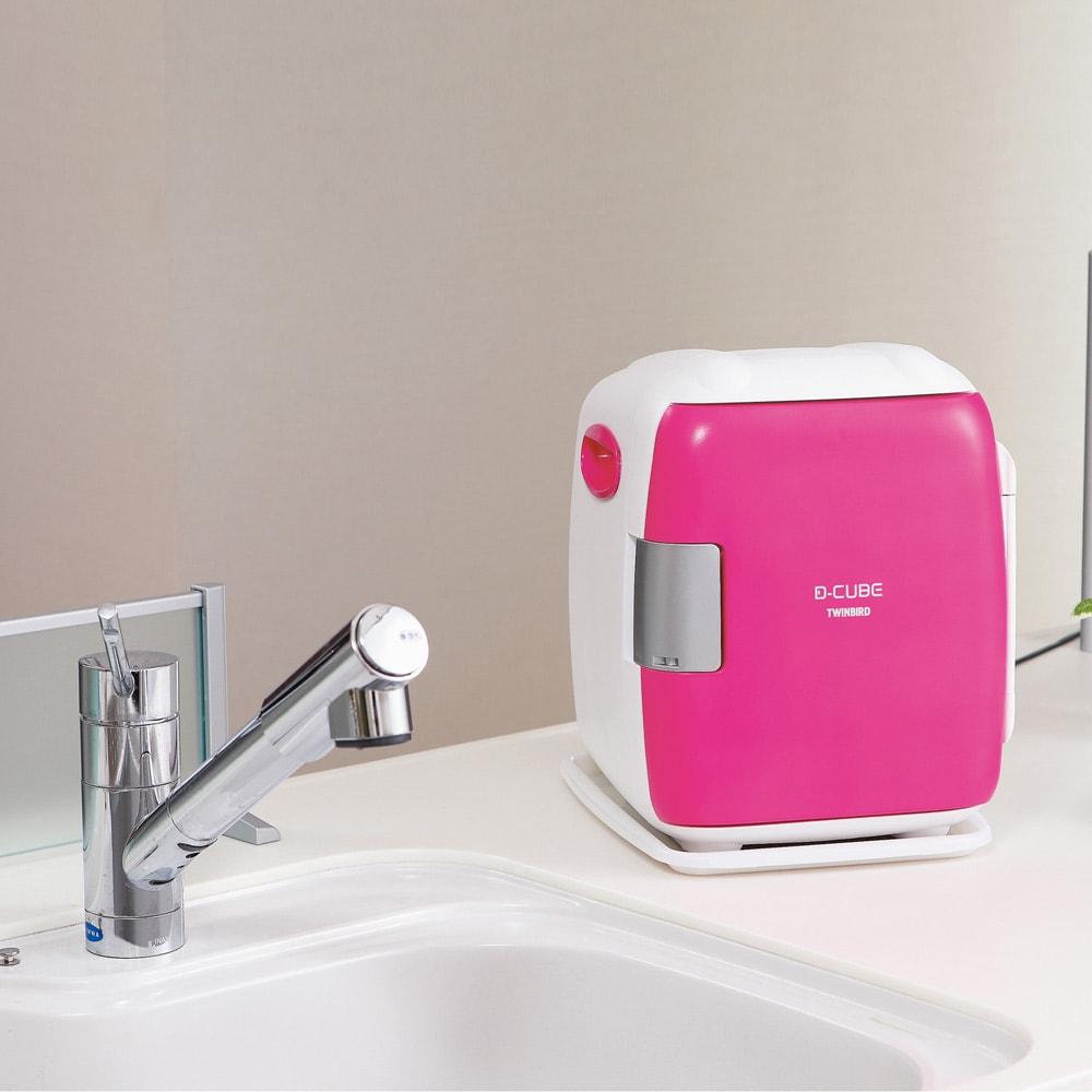 2電源式 コンパクト電子保冷保温ボックス S (イ)ピンク 使用例