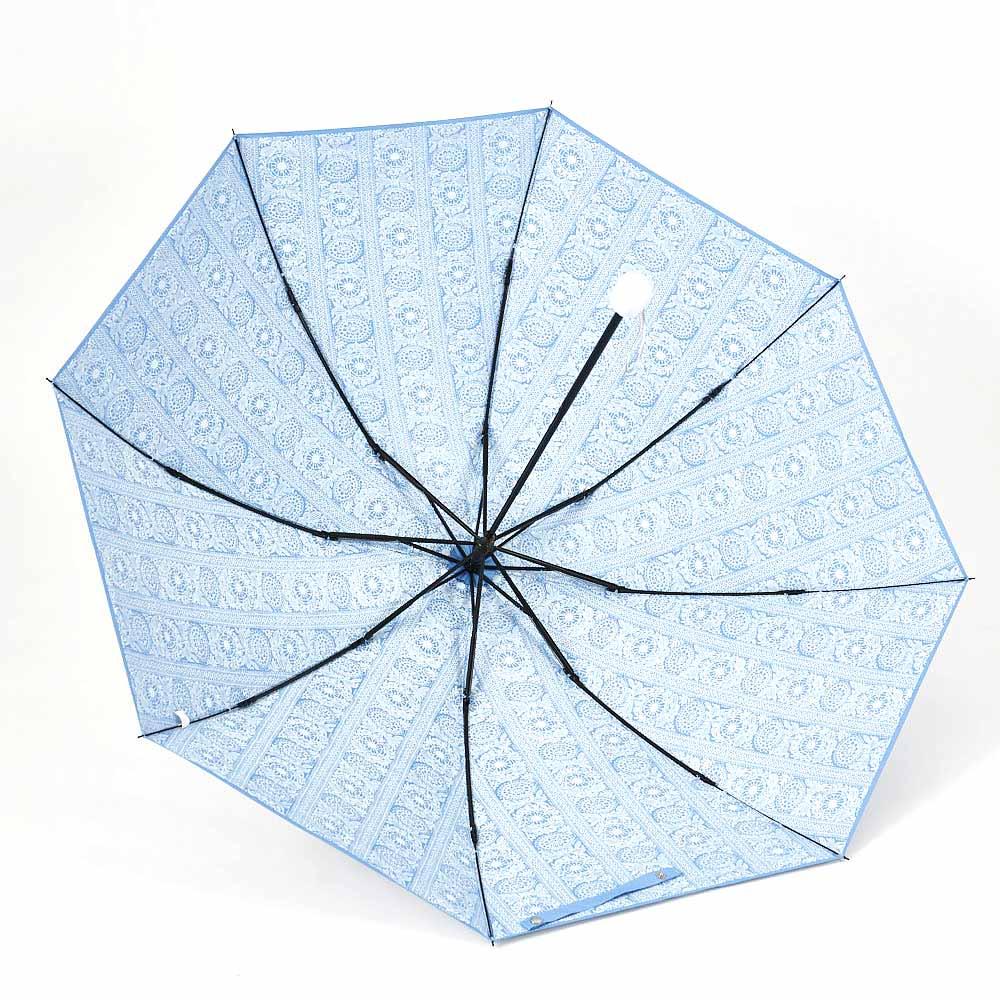 フィンレイソン 晴雨兼用大判折りたたみ日傘 60cm(直径105cm) (ア)ブルー(外面はシルバー)