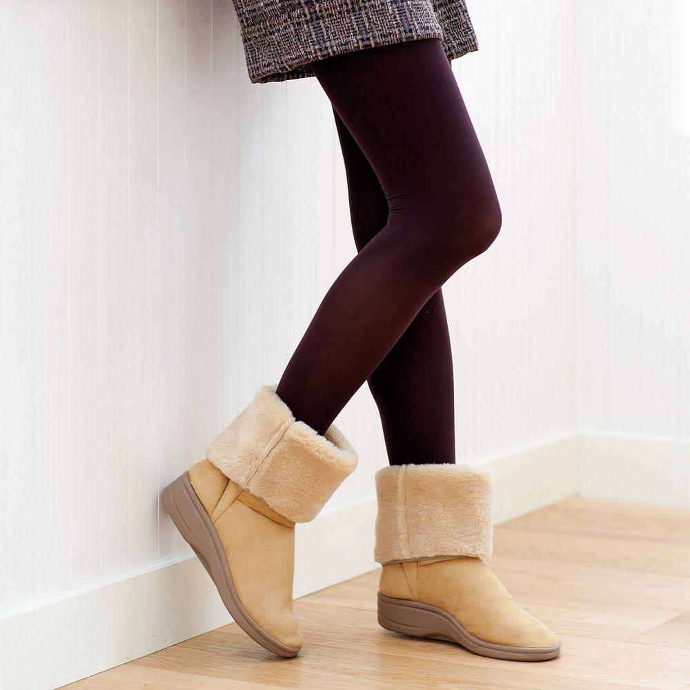 ARCOPEDICO/アルコペディコ ムートン調ブーツ (ウ)ベージュ 汚れても洗えるので天候を気にせず履ける!薄色も怖くない。
