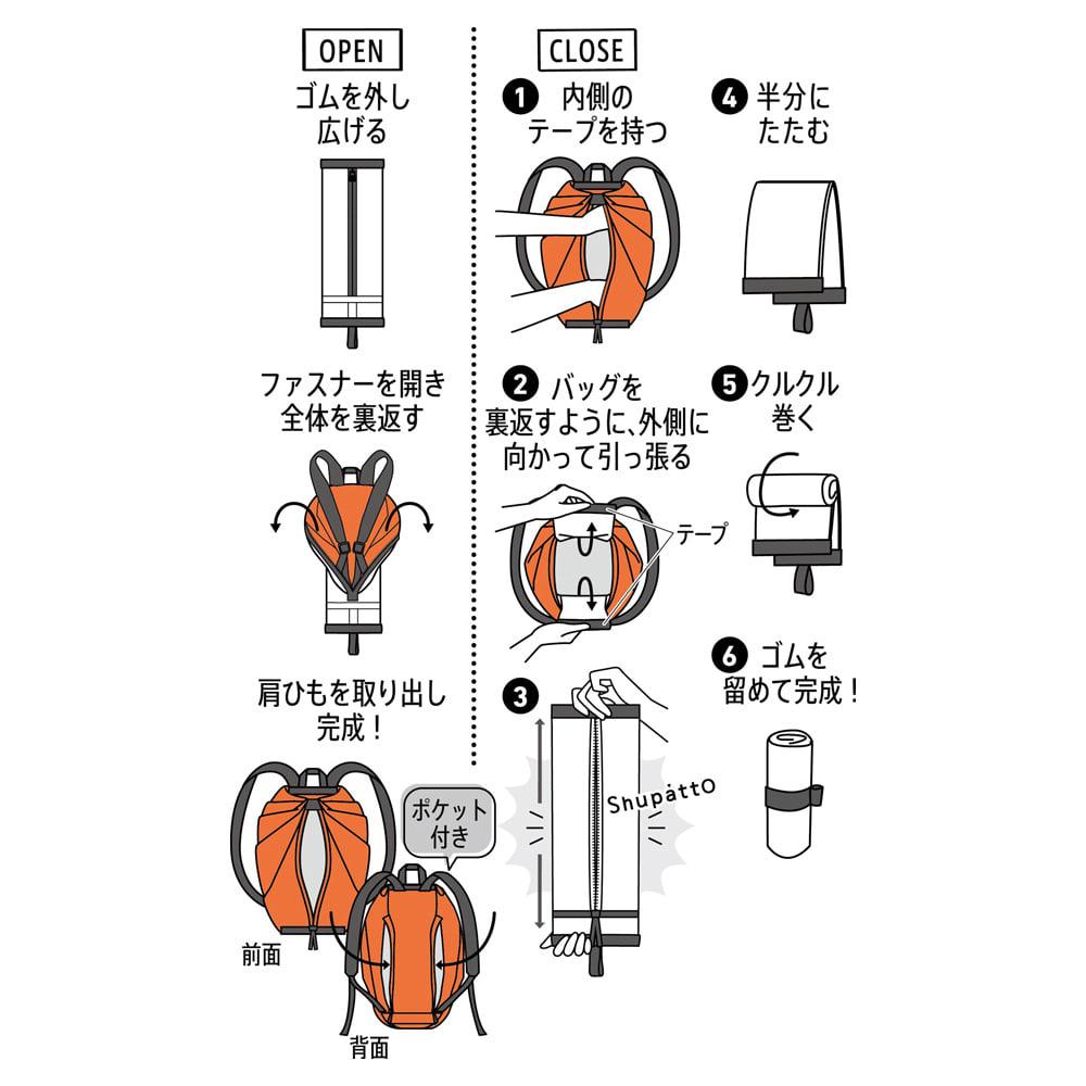 Shupatto(シュパット) リュック (コンパクト・携帯・旅行 リュック)