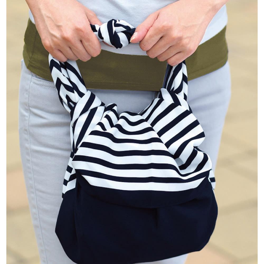 朝倉染布 濡れないはっ水風呂敷 (96×96cm) エコバッグに。