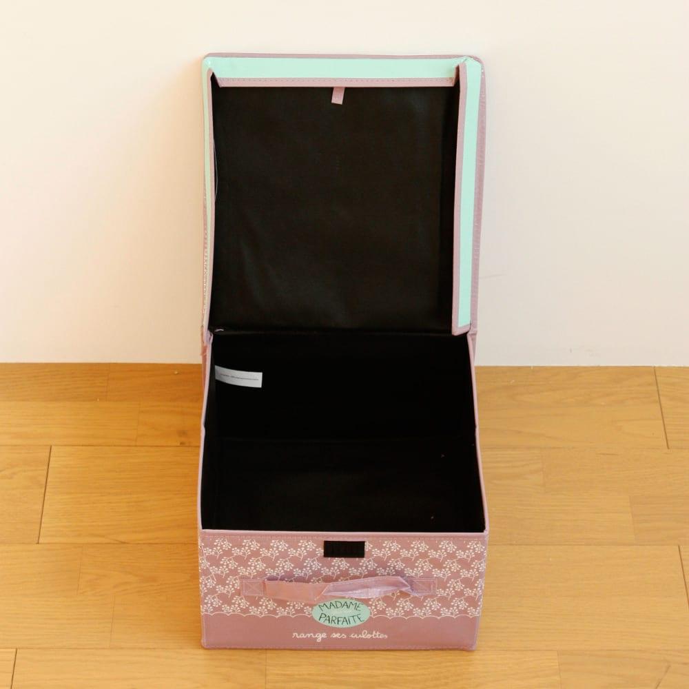 収納BOX レディアンダーウェア(柄:ピンクB)