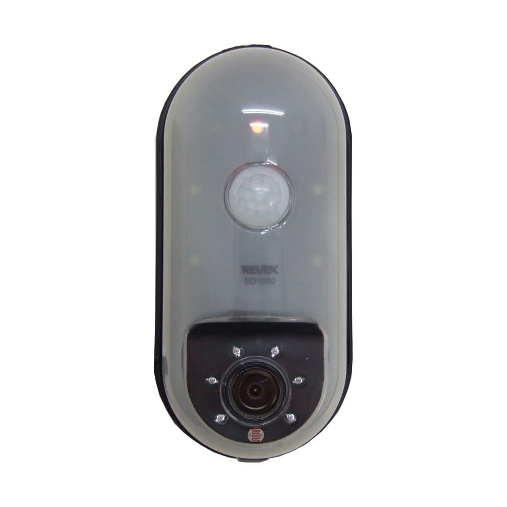 玄関やロッカーの防犯対策にもなるリーベックスmicroSD記録式センサーカメラ 【電池&SDカードセット品】 防犯グッズ・防犯カメラ
