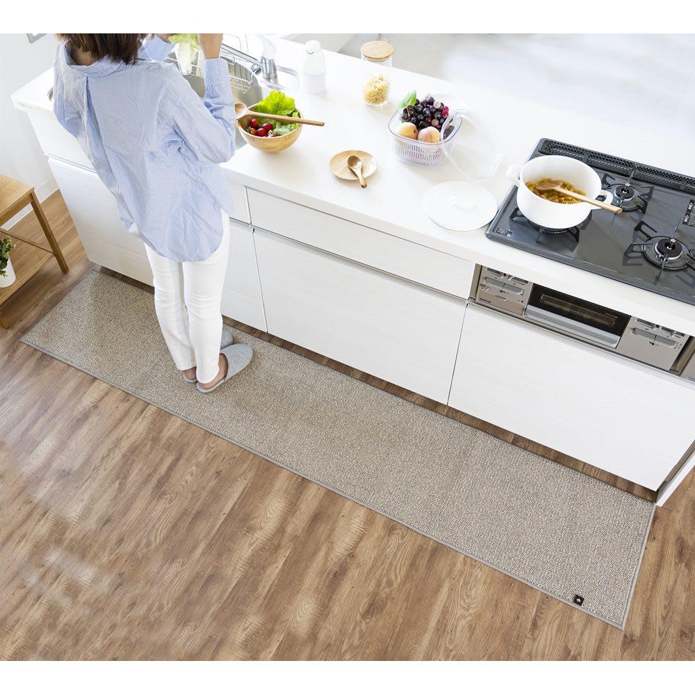 カーテン 敷物 ソファカバー カーペット ラグ マット キッチンマット 約60×240cm(beseキッチンマット) WB0776