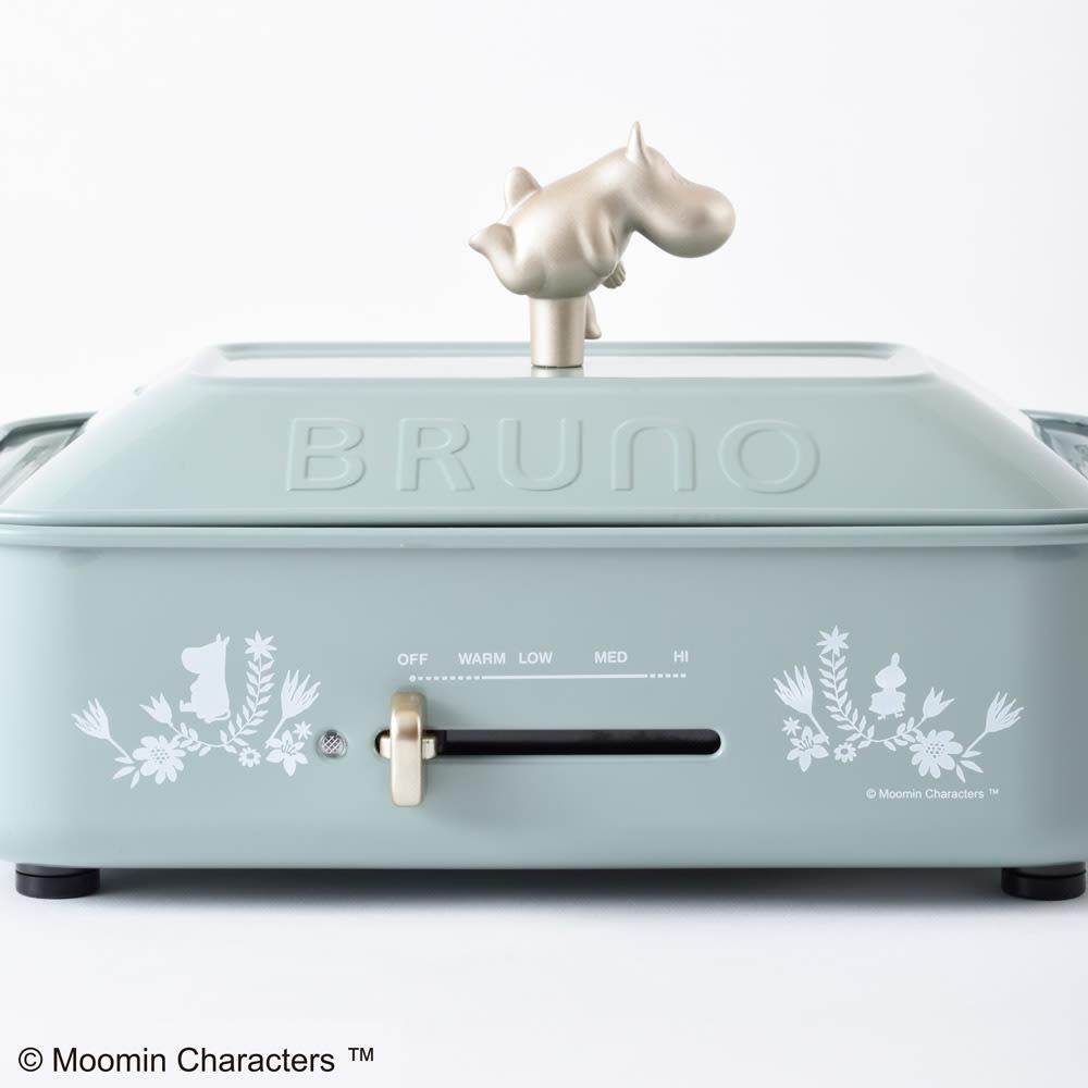BRUNO/ブルーノ ムーミン コンパクトホットプレート 温度調節もレバーで簡単。