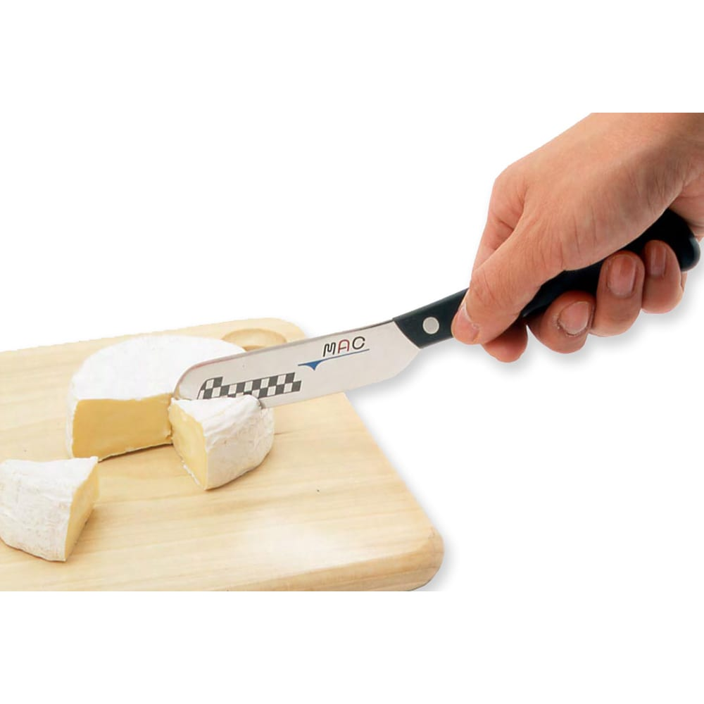 MAC バタ-ナイフ (チーズナイフ) 薄い刃でチーズもキレイにカットできます。
