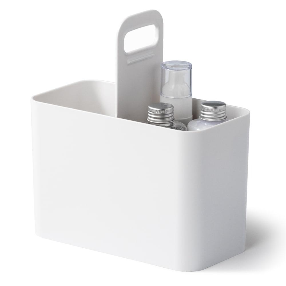 Like-it 持ち運びができる 樹脂製 メイクボックス  持ち運びしやすい取っ手付きです。