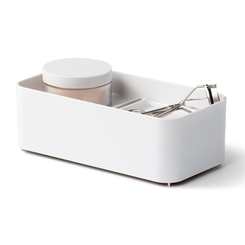 Like-it 持ち運びができる 樹脂製 メイクボックス  トレーも取り外して使うことができます。
