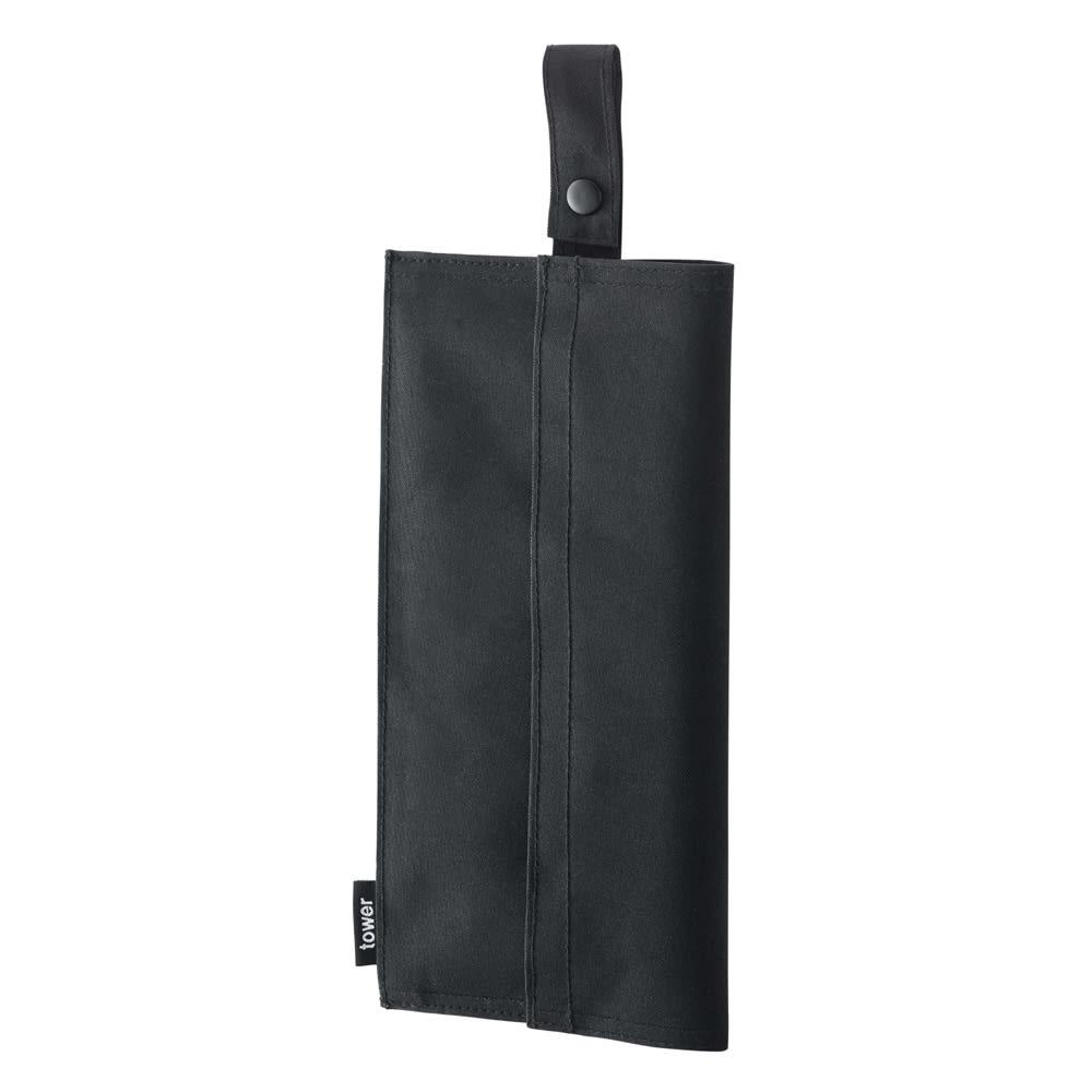 たためる携帯ティッシュケース タワー (イ)ブラック