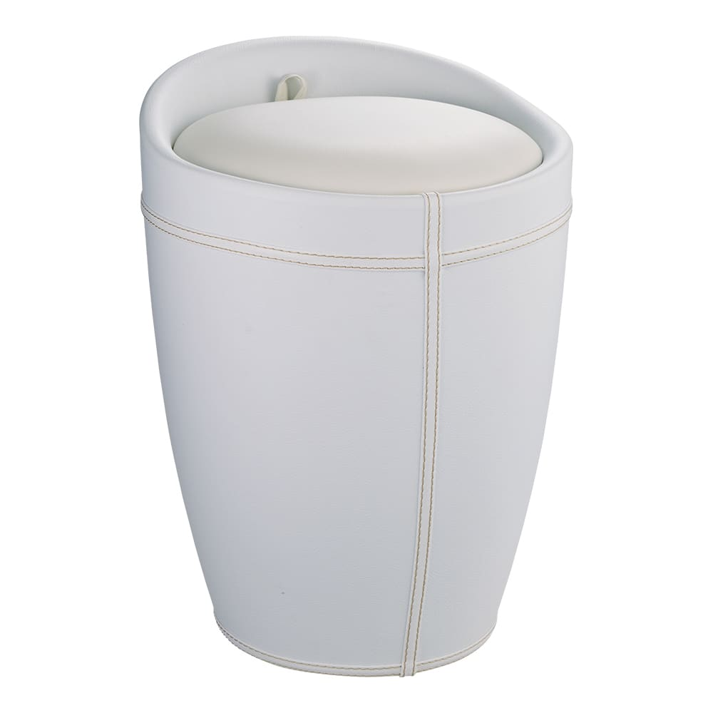 WENKO/ウェンコ 収納付きスツール (ア)ホワイト