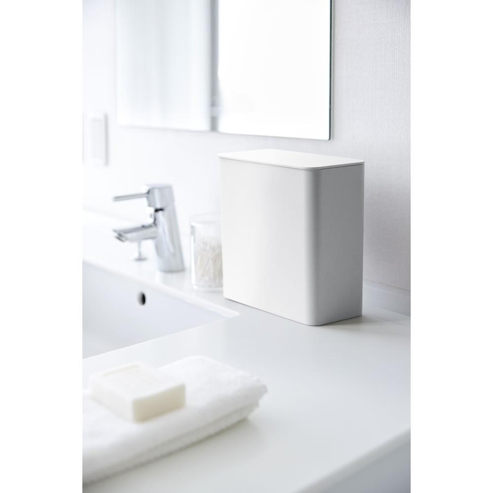 Tower/タワー マグネット洗濯洗剤ボールストッカー ・コットンや綿棒など洗面所で出るちょっとしたゴミ箱としても使えます。