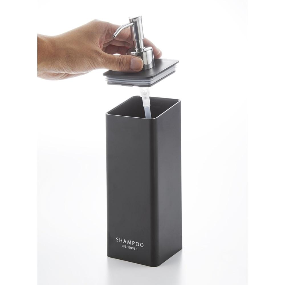 Tower/タワー マグネットツーウェイディスペンサー 蓋が外れるのでお手入れしやすく、詰め替えも簡単。