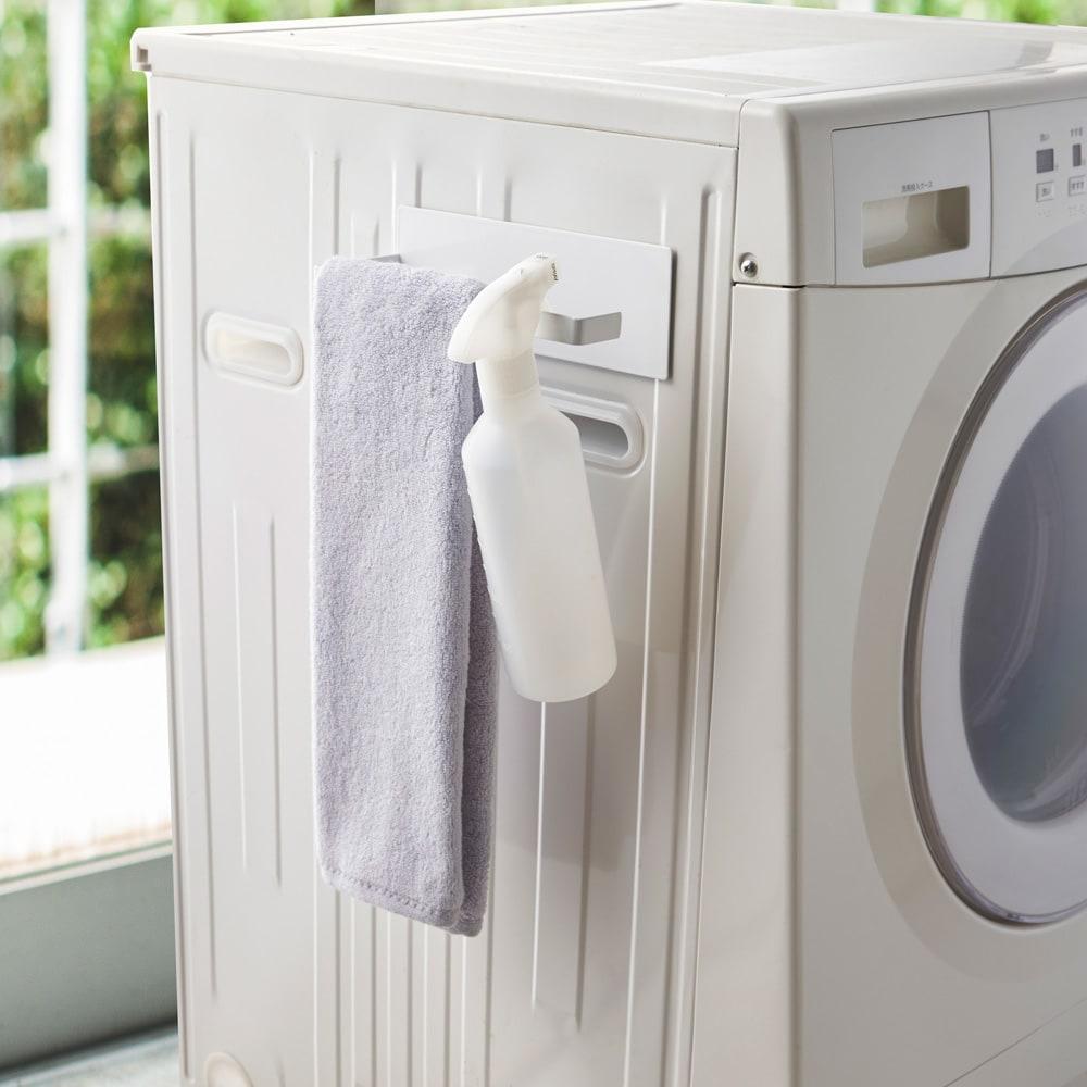Tower/タワー マグネットバスブーツホルダー マグネットで洗濯機横へ簡単取り付け