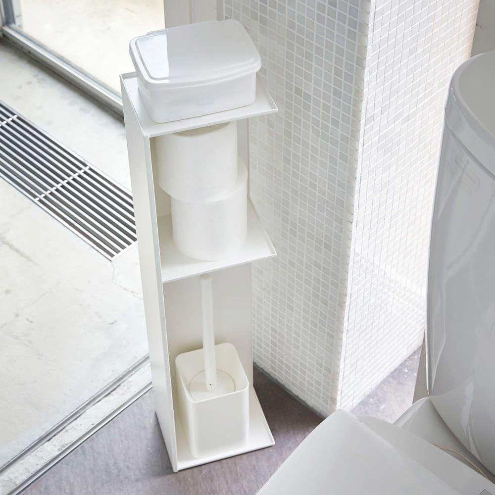 Tower/タワー スリムトイレラック スリムタイプのシンプルでスタイリッシュなトイレラック
