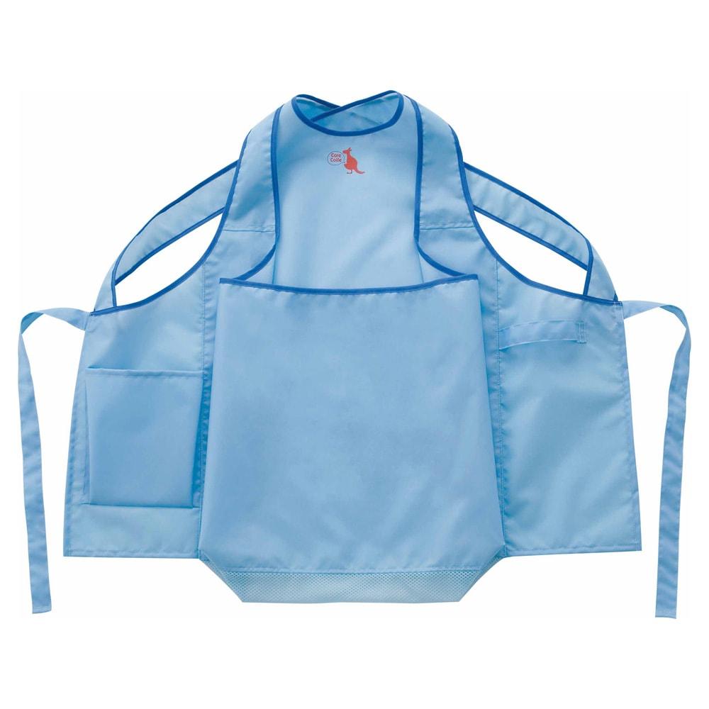 洗濯干しをスムーズに! カンガルー ランドリーエプロン たっぷり入る洗濯ピンチポケット付です。
