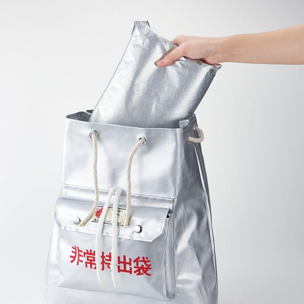 3wayコンパクトアルミ寝袋 非常用バッグにもスッポリ入るコンパクト設計