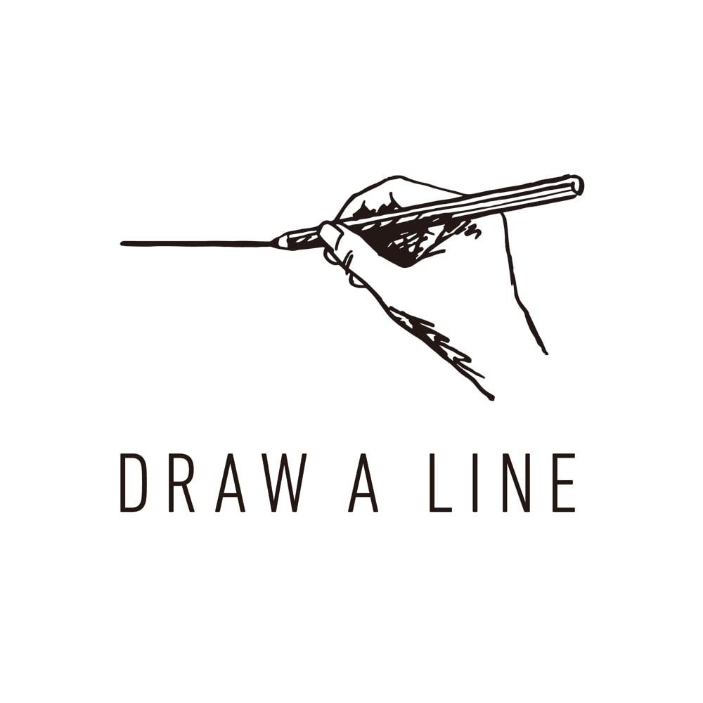 DRAW A LINE 突っ張り棒 115~190cm横専用ライト ブランドロゴ