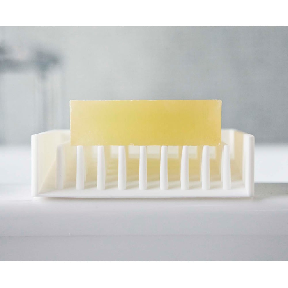水切りソープトレイ ミスト 洗面台やバスルームになじむシンプルデザイン