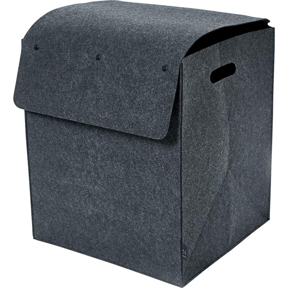 felsto 縦型フェルト リビング収納BOX (イ)ダークグレー L