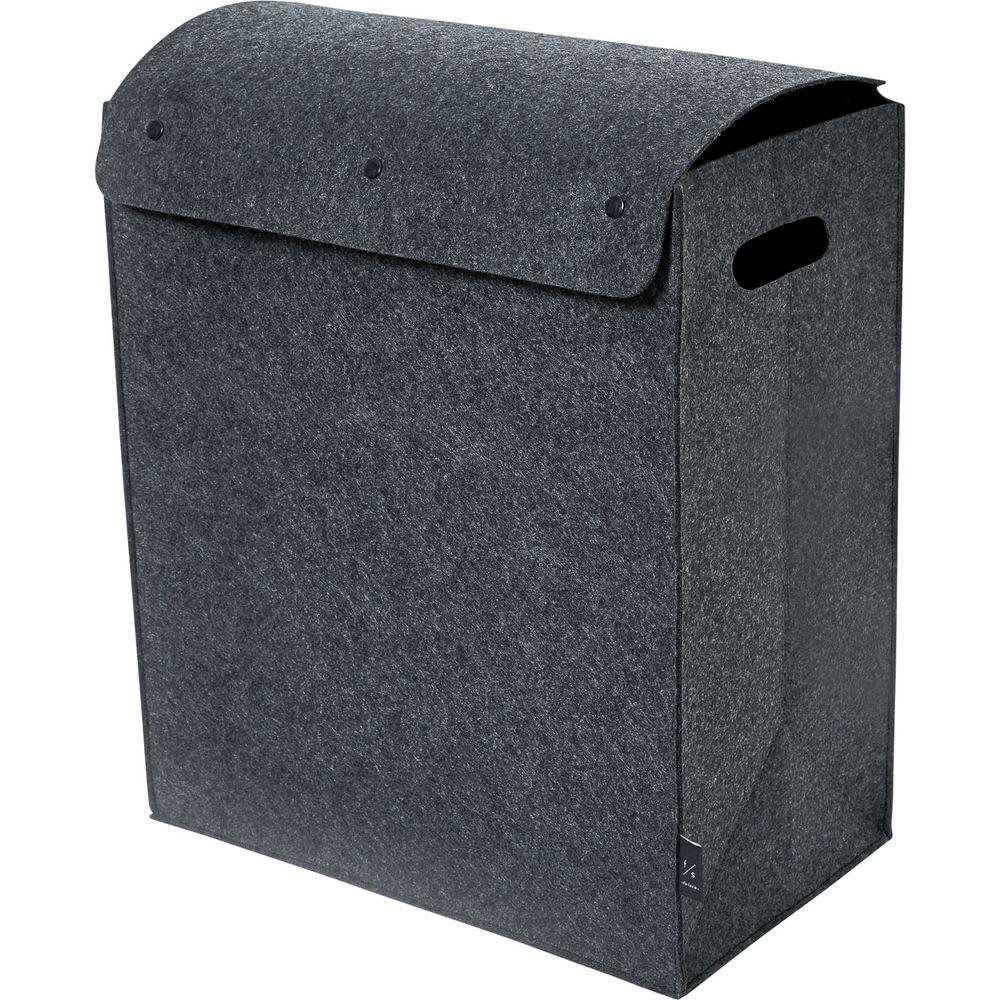 felsto 縦型フェルト リビング収納BOX (イ)ダークグレー M