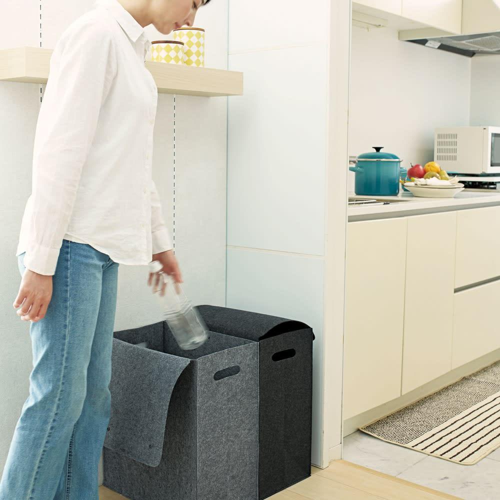 felsto 縦型フェルト リビング収納BOX おしゃれに目隠しすることができます。