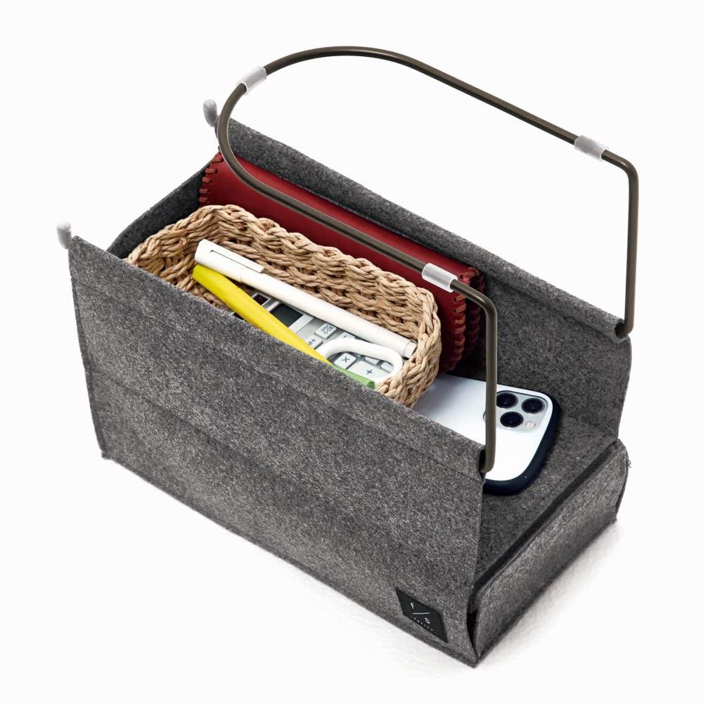 felsto 隠して収納リビングラック 筆記用具などの小物入れにも