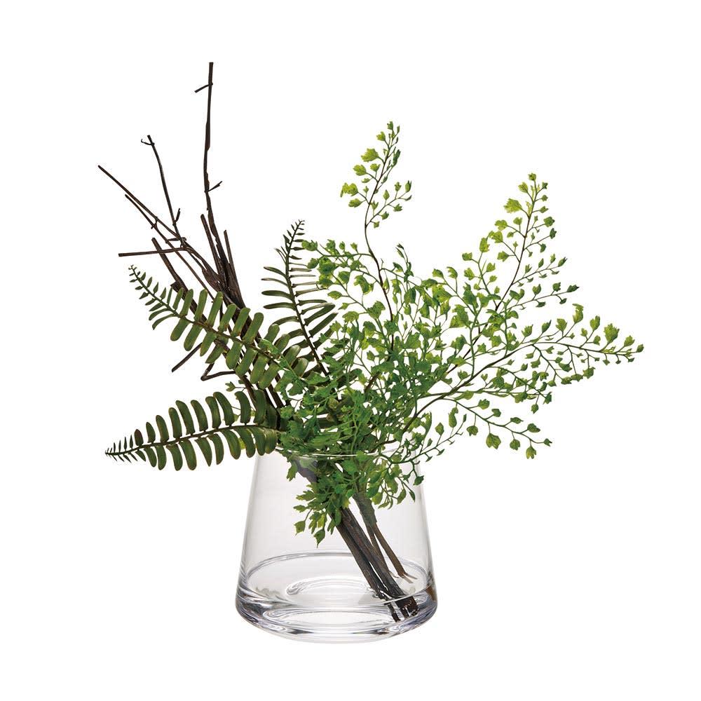 マジックウォーターグラスグリーン 大 「大」 小さい葉っぱがかわいい、アジアンタムを使用。