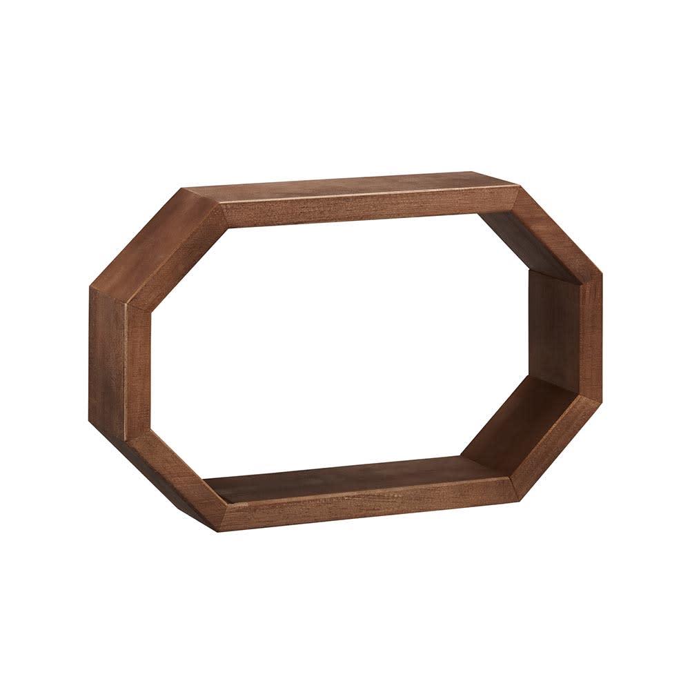 八角形 インテリアフレーム オープン (イ)ブラウン