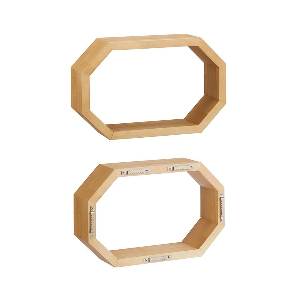 八角形 インテリアフレーム オープン 上:置き型(金具なし) 下:掛け型(金具付き)