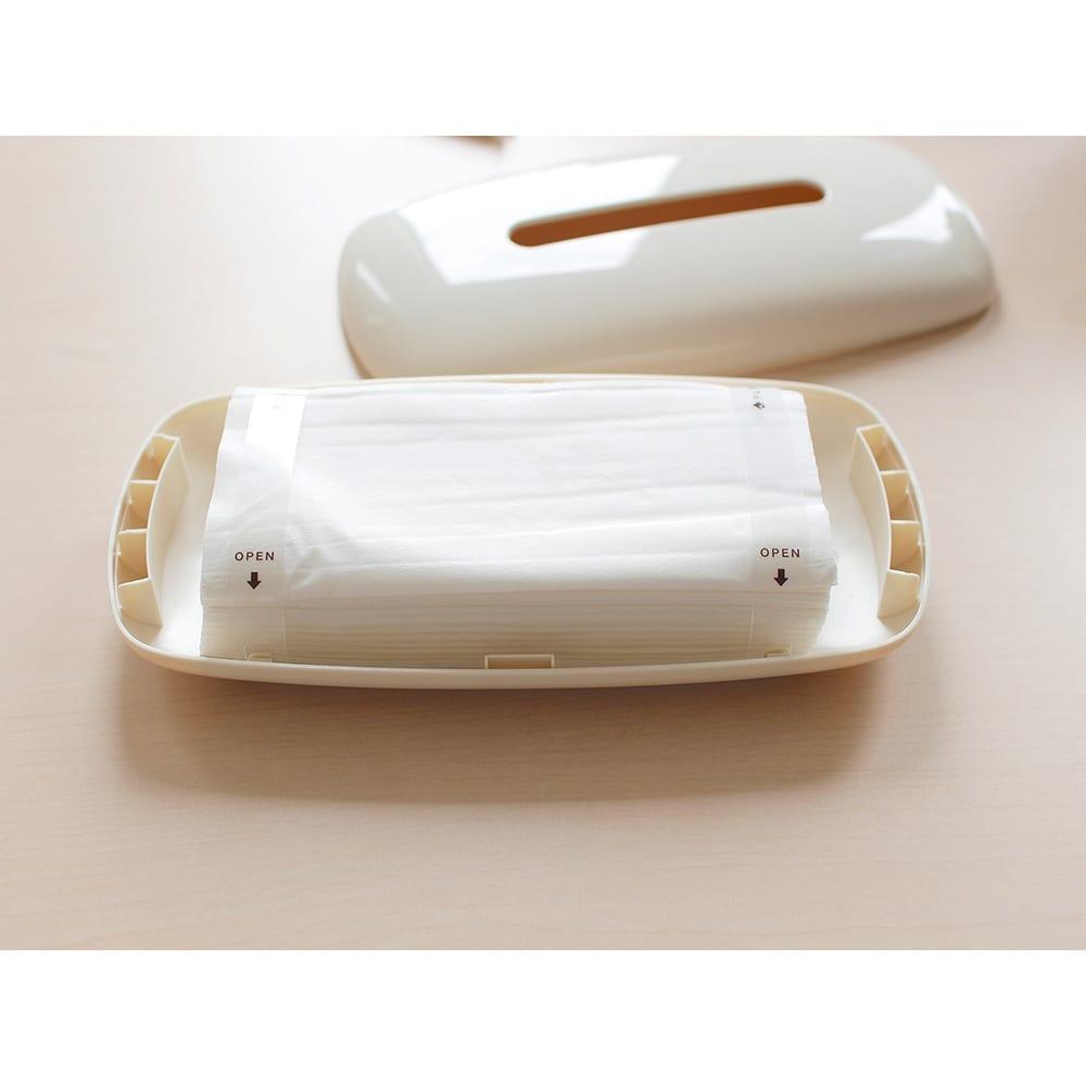 PLYS  樹脂製ティッシュボックス 袋入り(ソフトパック)ティッシュの場合は、そのままお使いいただけます
