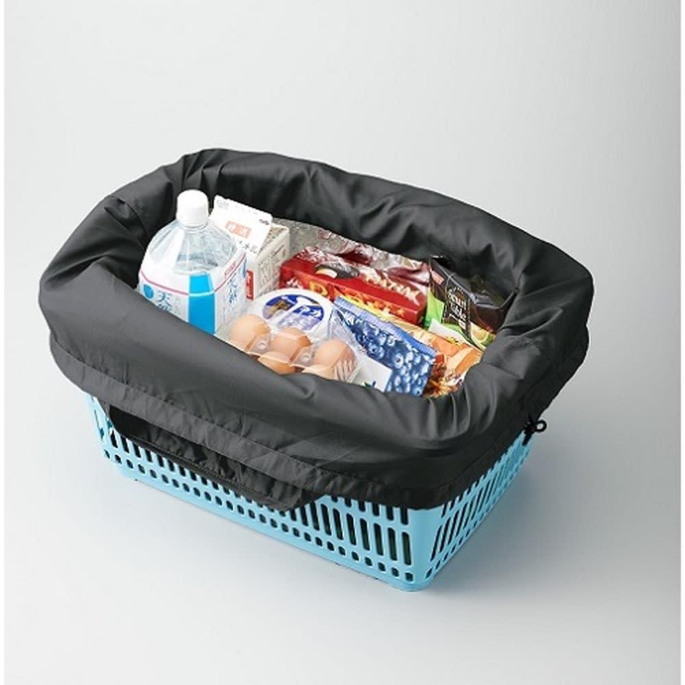 レジかごにピッタリ! クルリト クーラービッグマルシェバッグ  保冷エコバッグ レジカゴ対応の大容量サイズで、詰めるのも簡単。