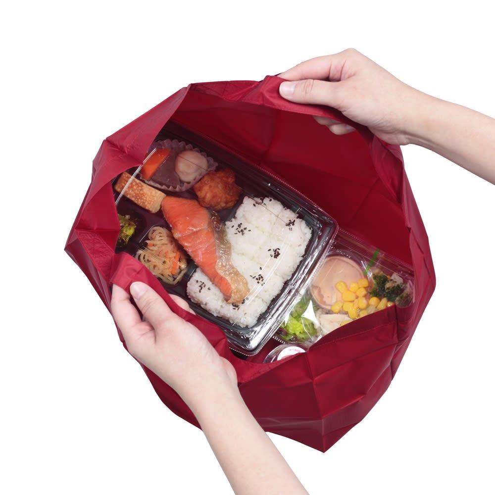 ハンカチサイズにたためるエコバッグ! ポケットスクエアバッグ ワイド  レジ袋と同じガゼットマチ仕様のためマチも広く、コンビニのお弁当も入ります