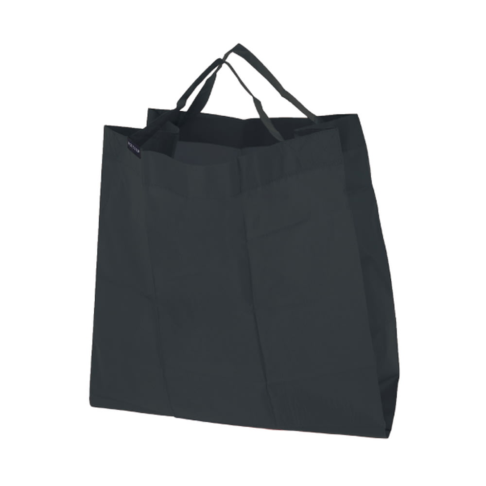 ハンカチサイズにたためるエコバッグ! ポケットスクエアバッグ ワイド  (ウ)ブラック