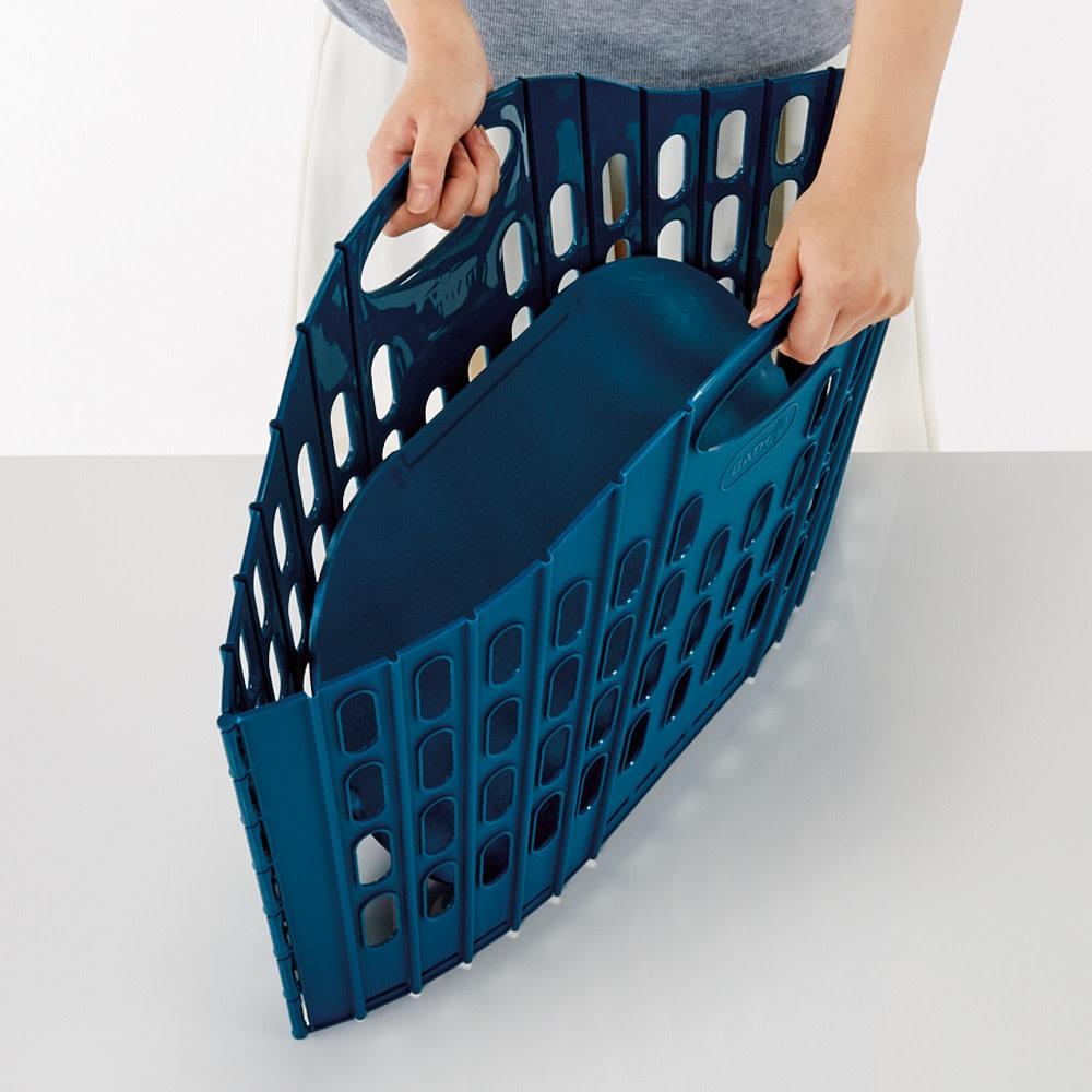 折りたたみバスケットベーシック 単品 必要な時にサッと広げて使用できます。