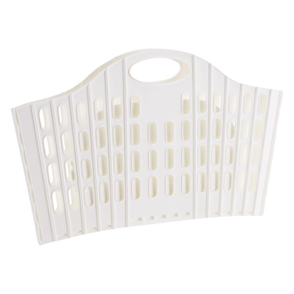 折りたたみバスケットベーシック 単品 (ア)ホワイト