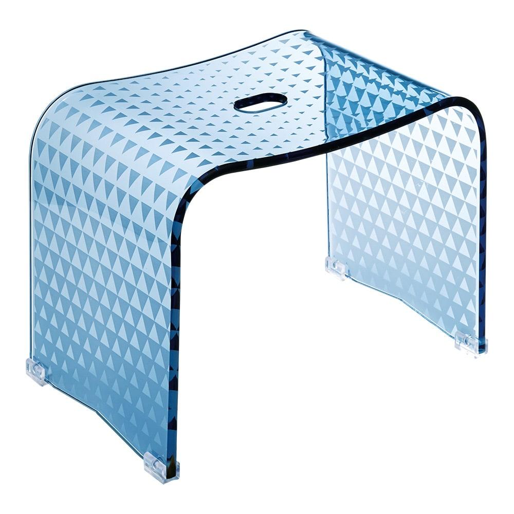 トライアングル アクリル製 バスチェアL (イ)ブルー