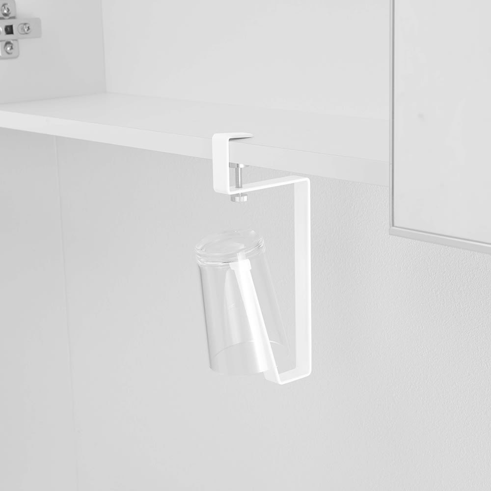 tower/タワー 洗面戸棚下 タンブラーホルダー 吊戸棚に引っ掛けるだけの簡単設置!