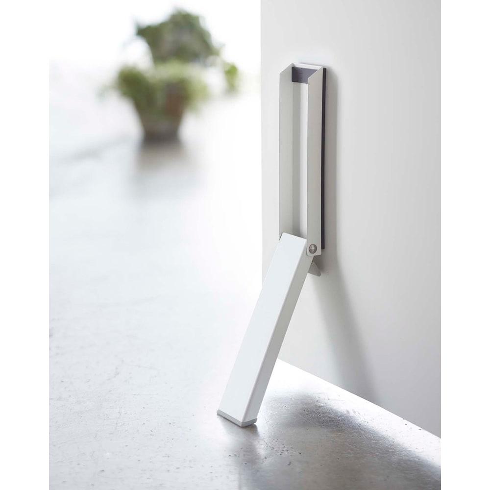 マグネット折り畳みドアストッパー スマート (ア)ホワイト