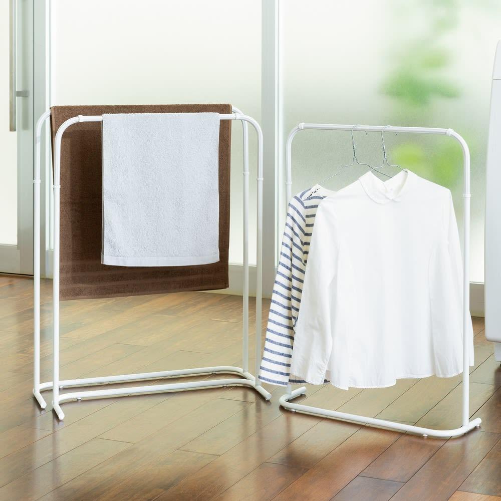 セパレーションマルチタオルハンガー マルチハンガー(3本組) グレー/ネイビー 物干し台・洗濯ハンガー