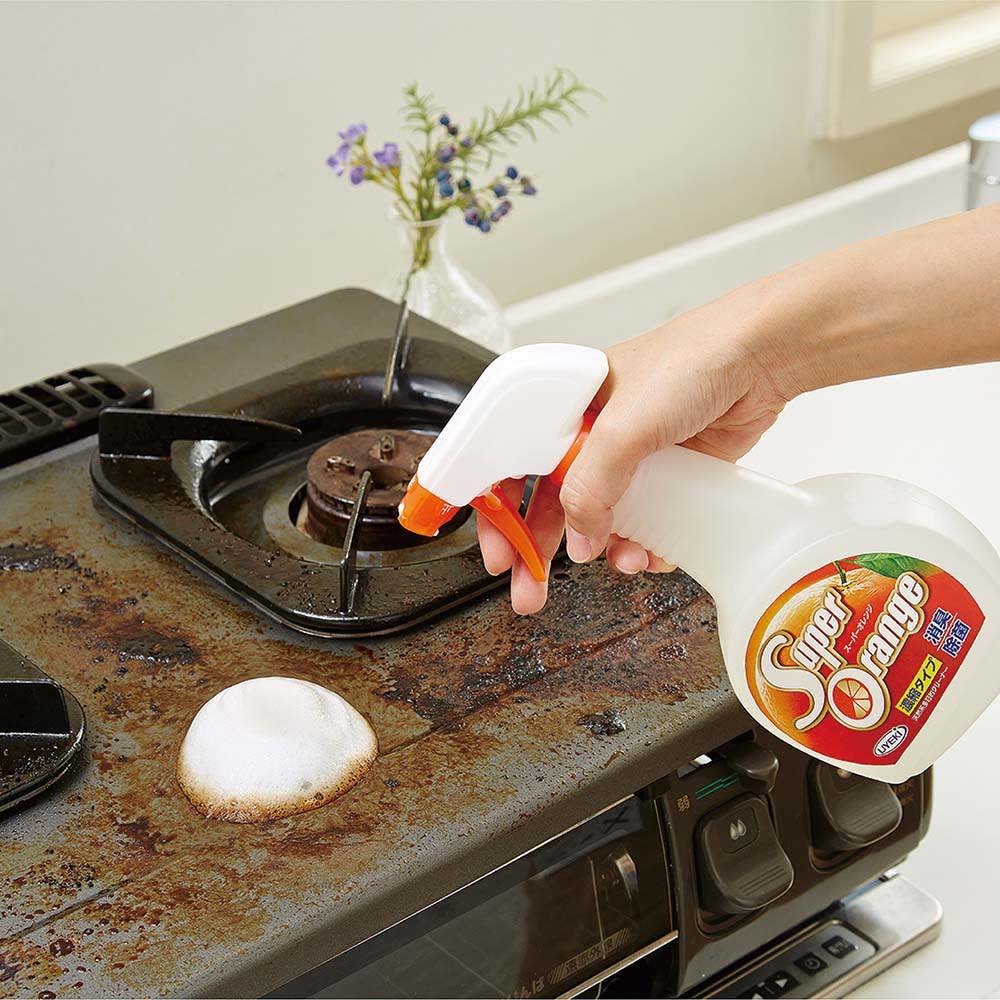 オレンジオイルの力で家中お掃除! 住宅用洗剤 スーパーオレンジ 480ML  洗濯洗剤・台所洗剤
