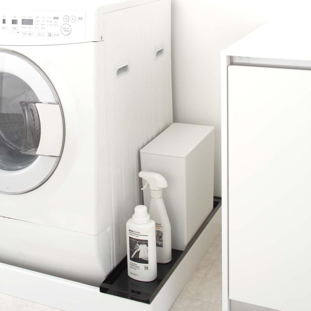 洗濯機 防水パン上ラック タワー ホワイト お風呂グッズ・バス用品