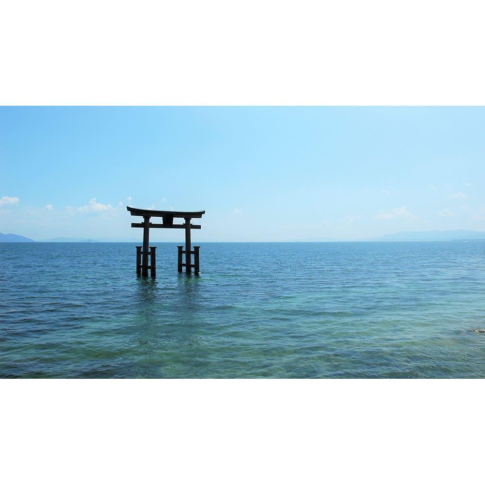 季ノ布 しなやか涼感 風の便り 洗える麻肌掛けふとん シングルサイズ 滋賀近江風景(マザーレイク琵琶湖)