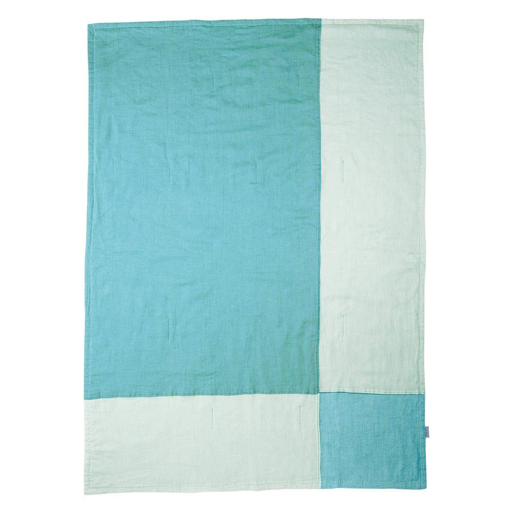 季ノ布 ふわり軽やか 初夏の彩り 洗える麻肌掛けふとん シングルサイズ (イ)グリーン