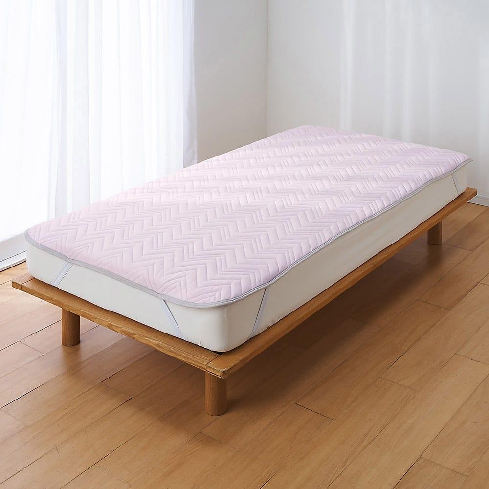 西川×ディノス クールコットン寝具シリーズ 敷きパッド セミダブル