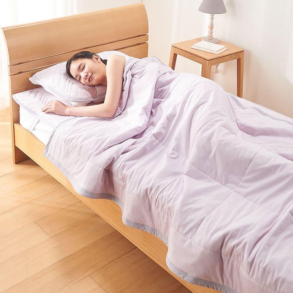 西川×ディノス クールコットン寝具シリーズ 肌掛けケット ダブル