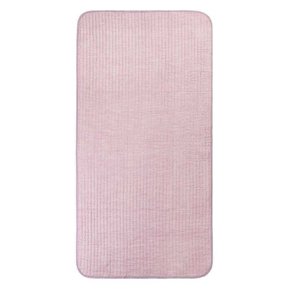 季ノ布 麻のシャリ感 風薫る皐月シリーズ 洗える麻敷きパッド (ア)ピンク